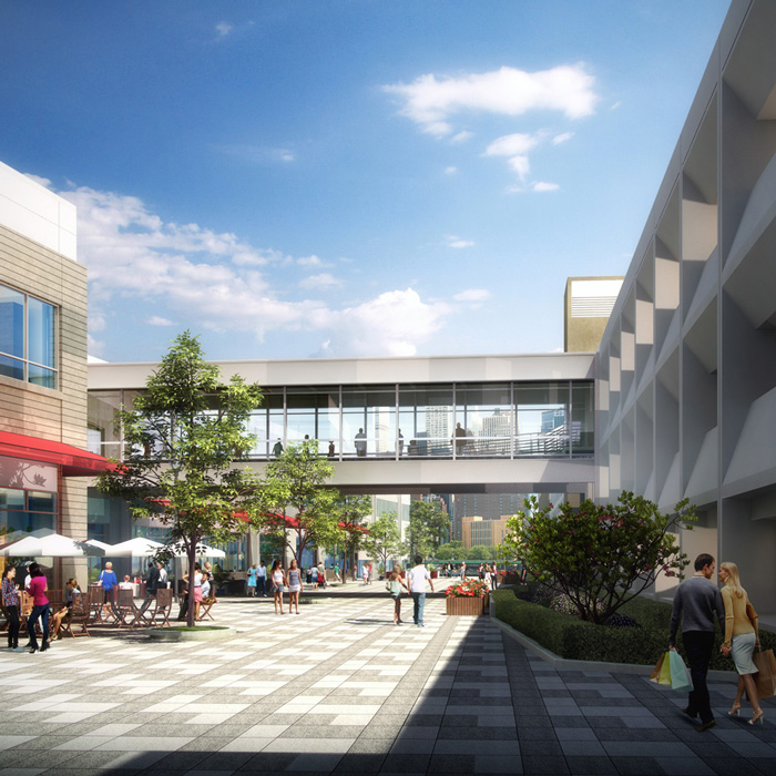 Mercantile Courtyard Rendering